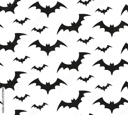Photo Bat silhouette seamless pattern
