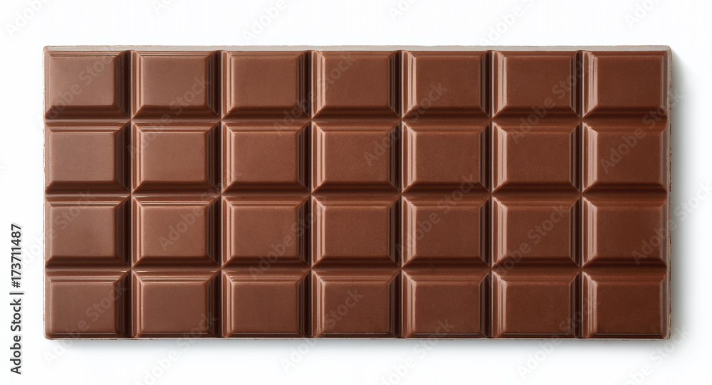 Fototapety, obrazy: Milk chocolate bar isolated on white background