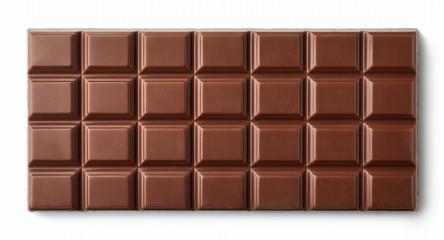 Fototapeta Milk chocolate bar isolated on white background