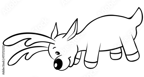 Reindeer Coloring Page Buy This Stock Vector And Explore Similar