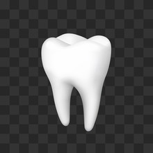 Tooth On A Black Background, T...
