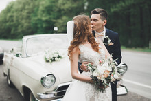 Stylish Wedding Couple, Bride,...