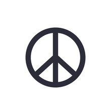 Peace Sign Isolated On White