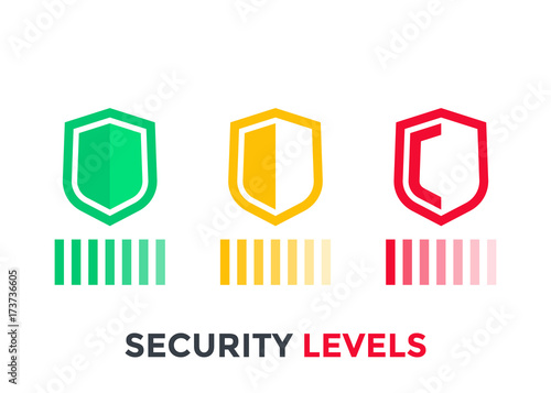 security levels icons on white Canvas Print