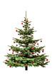Weihnachtsbaum mit Roten Kugeln