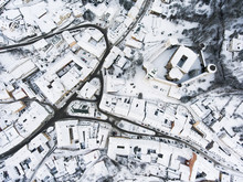 Aerial View Of Small Town With...
