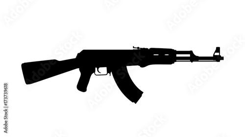 assault russian rifle Canvas Print