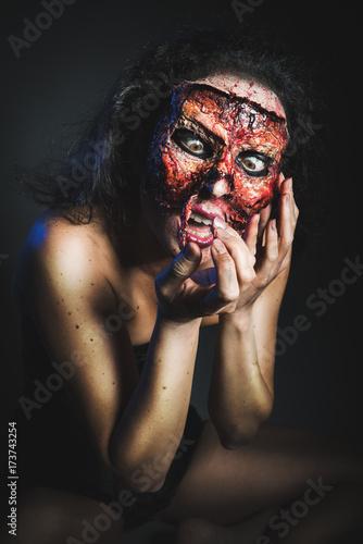Plakat Kobieta bez twarzy