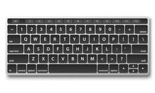 Black Keyboard Object On White...