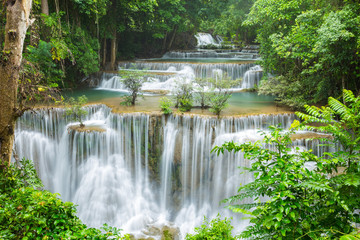 Obraz na Szklebeautiful waterfall in Thailand
