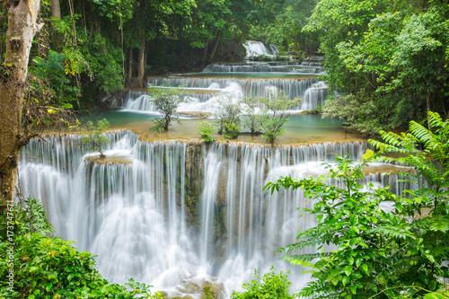 Deurstickers Watervallen beautiful waterfall in Thailand