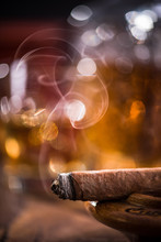 Cuban Cigar Smoke And Luxuriou...