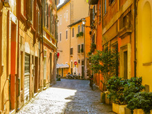 Small Street In The Trastevere...