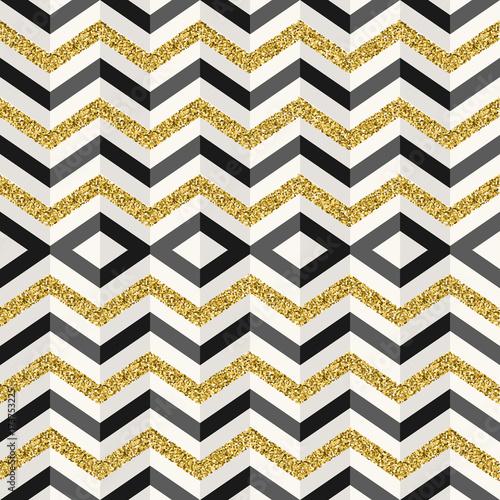 zlota-brokat-abstrakcyjna-geometria-szwu