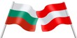 Flags. Bulgaria and Austria