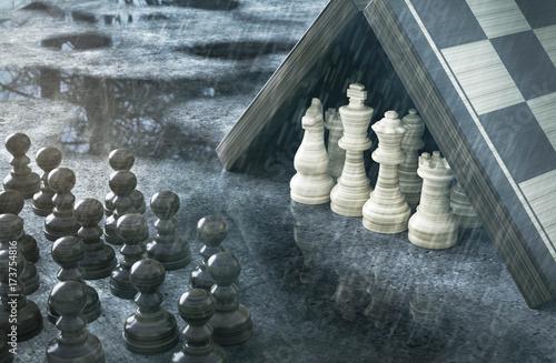 Schach im Regen Wallpaper Mural
