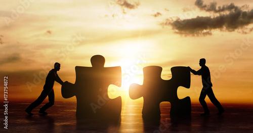 Valokuva  Silhouette Puzzle Team