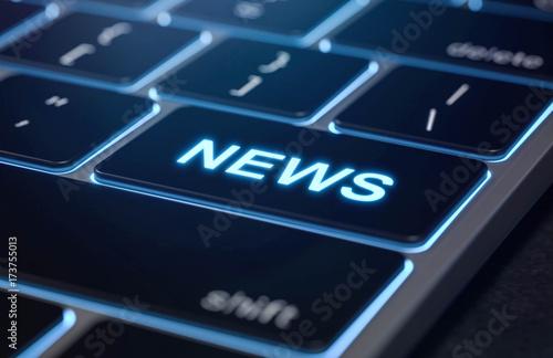 Tastatur News technologie Canvas Print