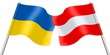 Flags. Ukraine and Austria