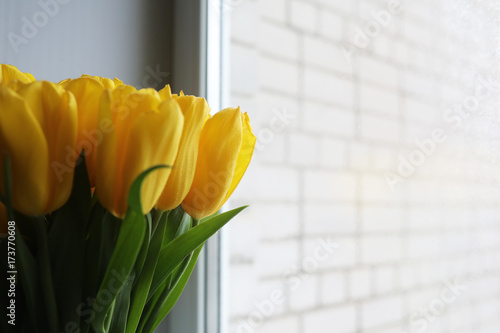 a-bouquet-of-fresh-yellow-tulips