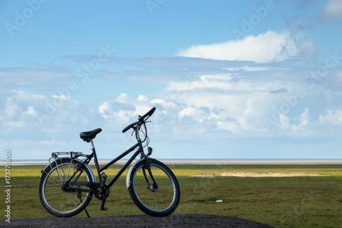 Spoed Foto op Canvas Noordzee Fahrrad an der Nordseeküste