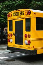Yellow School Bus In Manhattan...