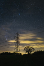 Electricity Pylons, Stars And ...