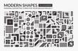 Set Minimal modern shapes