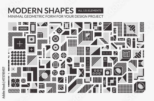 Set Minimal modern shapes Canvas-taulu