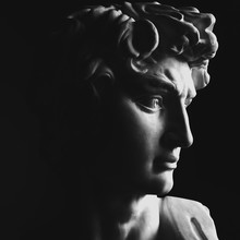 Close Up Of A Classical Sculpture Of A Man