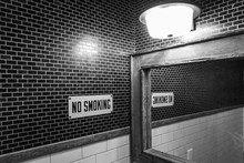 No Smoking Sign In A Bathroom