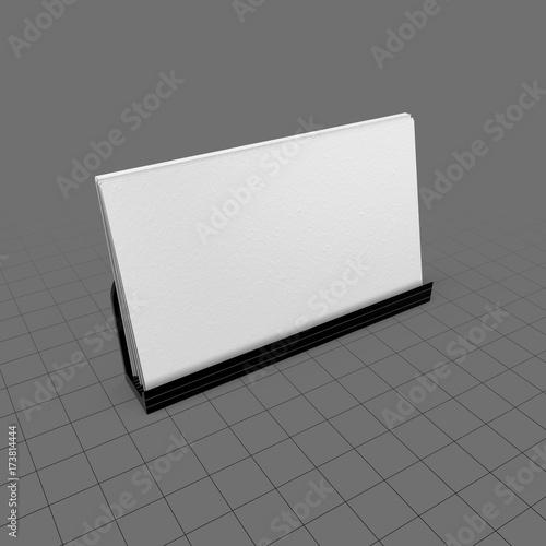 Desktop business card holder buy this stock 3d asset and explore desktop business card holder reheart Images