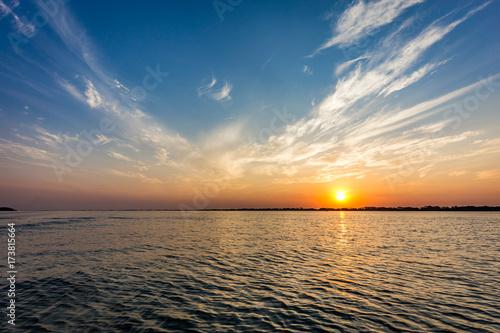 Fotografija  Parana river at sunset, Brazil