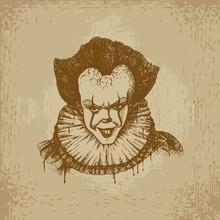 Evil Clown Illustration