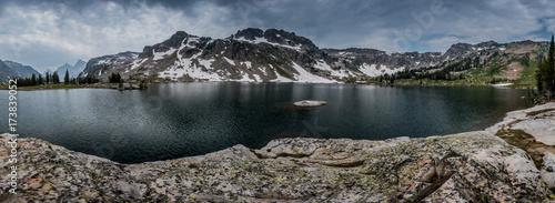 Fotografia, Obraz Panorama of Cloudy Lake Solitude