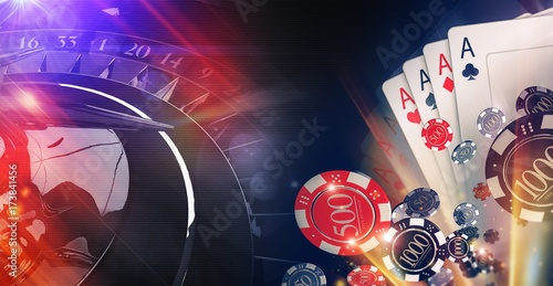фотография  Conceptual Casino Illustration