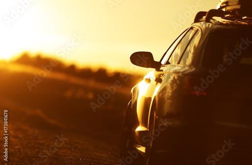 Fotografie, Obraz  Golden Hour Car Road Trip