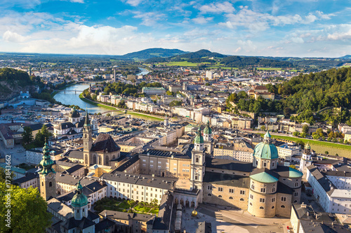 City on the water Panoramic view of Salzburg