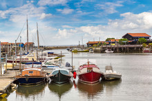 Oyster Village In Arcachon Bay