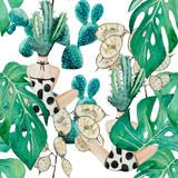 Pattern cactus girl - 173851400