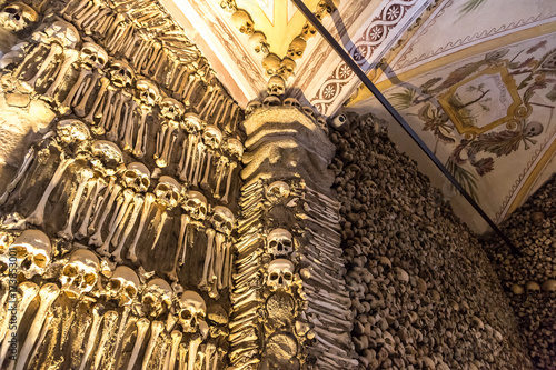 Tela Chapel of Bones in Evora, Portugal