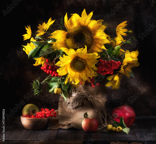 still-life-with-sunflowers-fruits