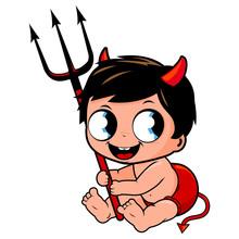 Cute Baby Boy In Halloween Dev...