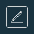 Pen Outline Symbol. Premium Quality Isolated Contract Signing Element In Trendy Style.