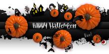 Happy Halloween Paper Art Bann...