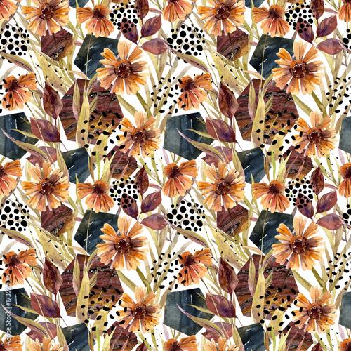 jesieni-akwareli-kwiecista-przygotowania-bezszwowy-wzor
