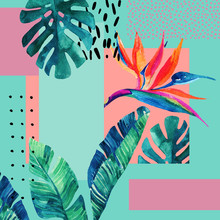 Abstract Tropical Summer Desig...