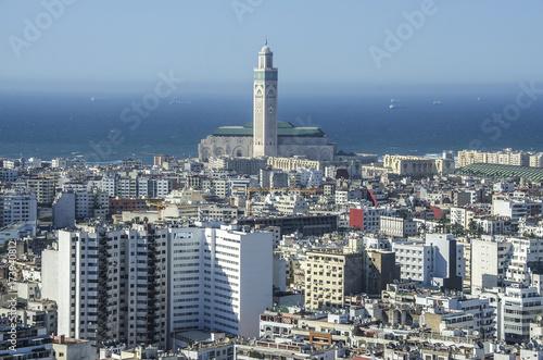 Photographie City panorama. Casablanca, Morocco. Africa