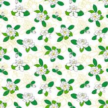 Seamless Pattern With Gardenia...