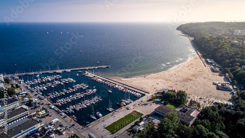 Obraz Plaża w Gdynii - fototapety do salonu